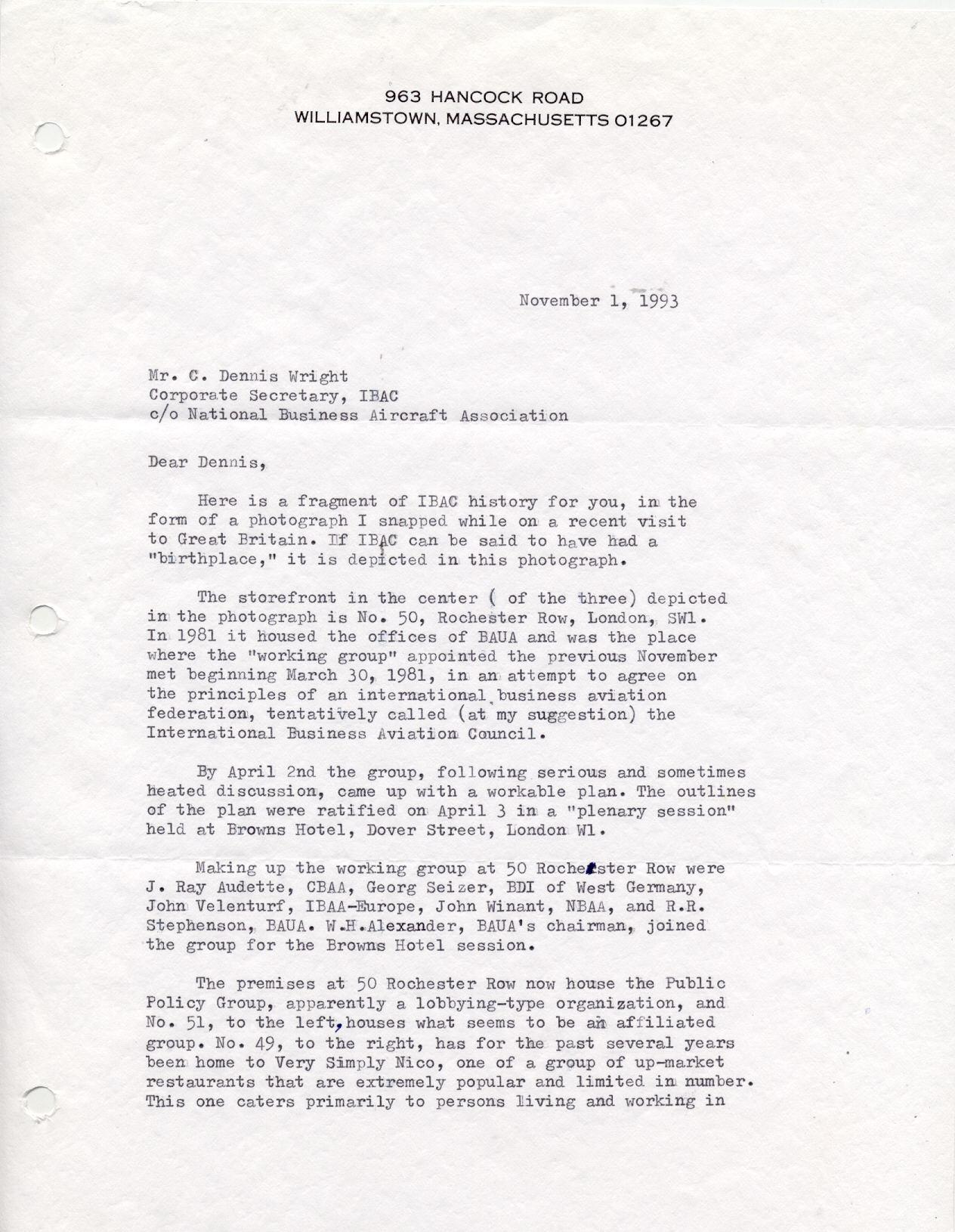 Winant Letter 1