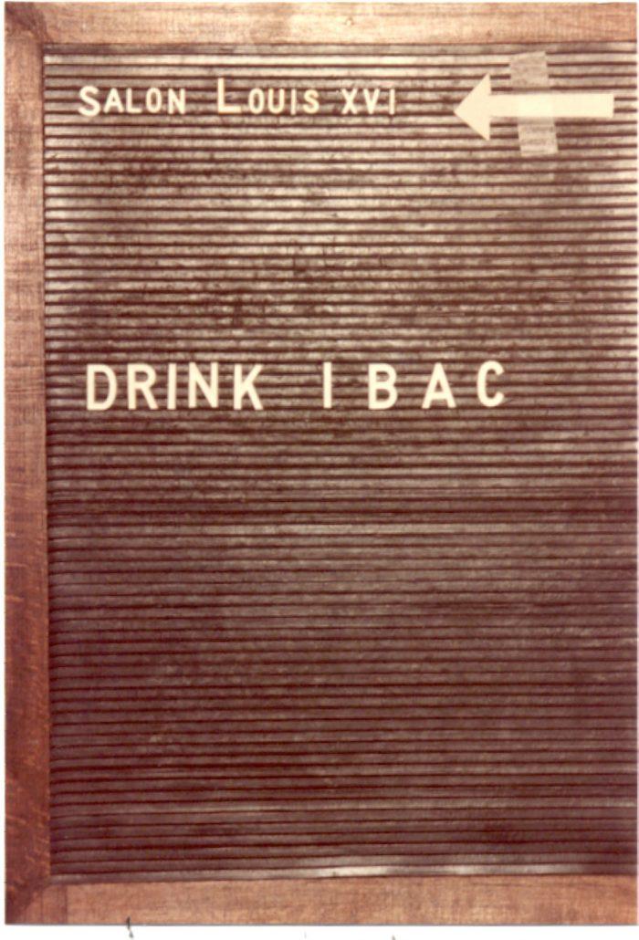 drink IBAC (belgium 1984)