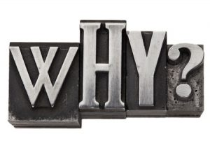 12674675 - why - isolated question in vintage letterpress metal type